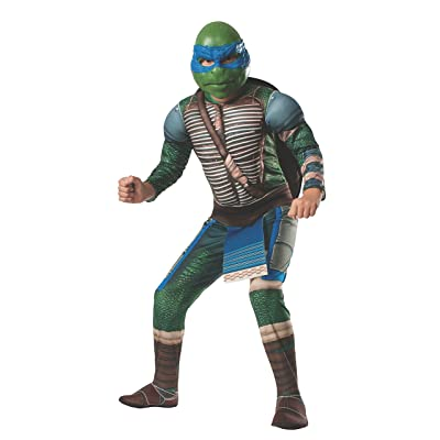 Rubies Teenage Mutant Ninja Turtles Deluxe Muscle-Chest Leonardo Costume, Small: Toys & Games