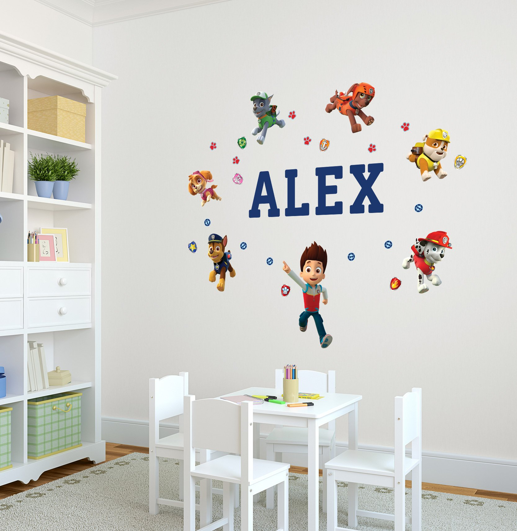 Oliver's Labels Paw Patrol Personalized Kids Name Wall Decal by Oliver's Labels