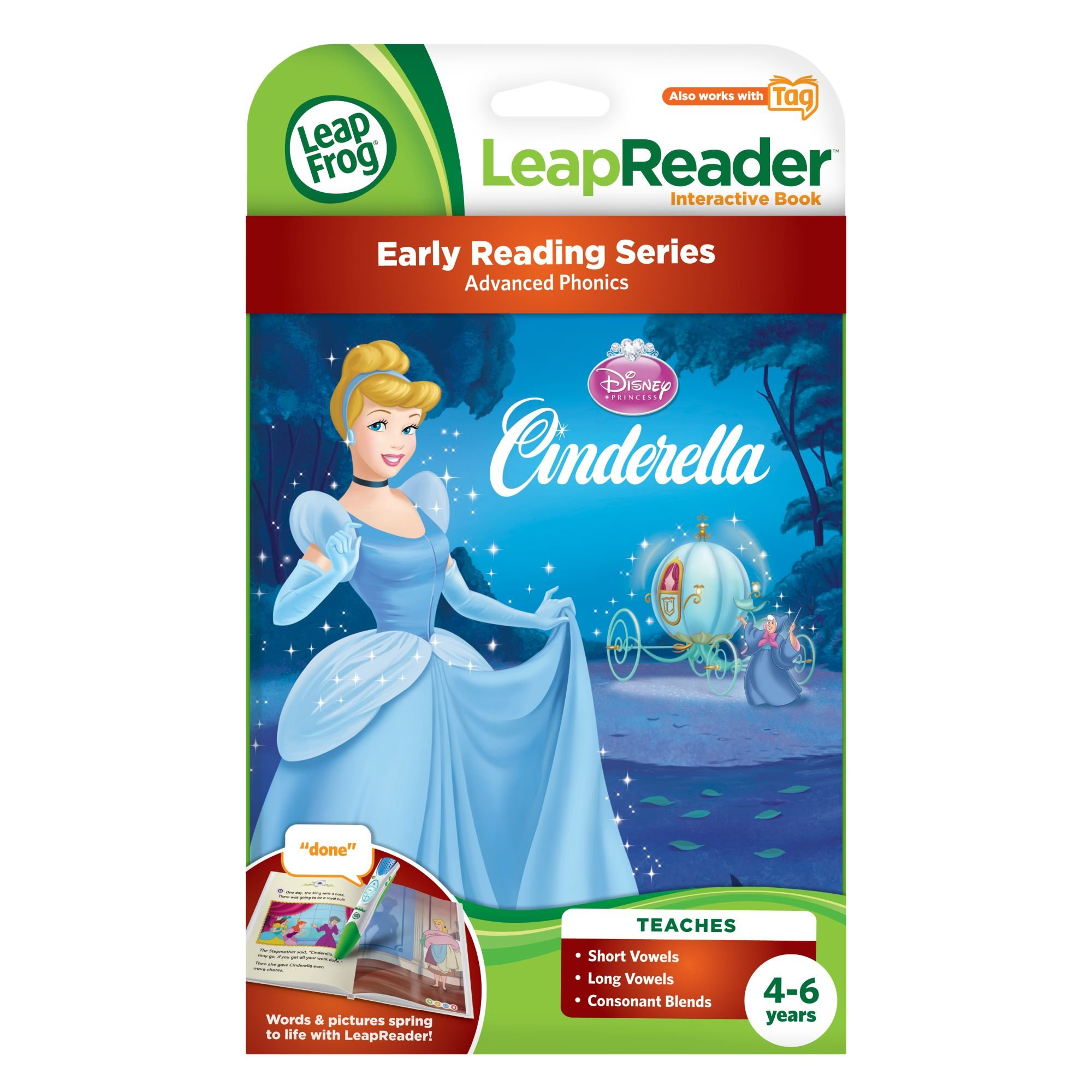 LeapFrog LeapReader Book: Disney Cinderella: The Heart That Believes (works with Tag) by LeapFrog (Image #2)