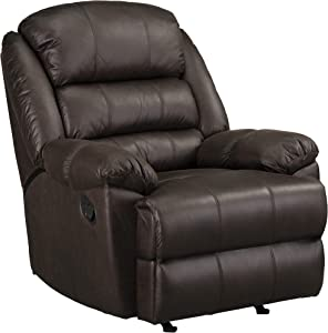 Standard Furniture Chocolate Manual Motion Rocker Recliner, Brown