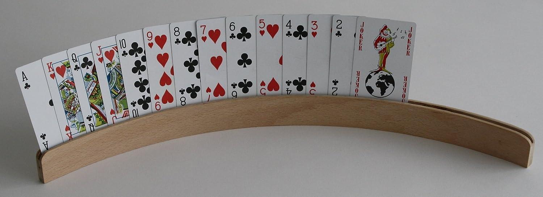 Adhome Porte-Cartes /à Jouer Arrondi en Bois 50 cm