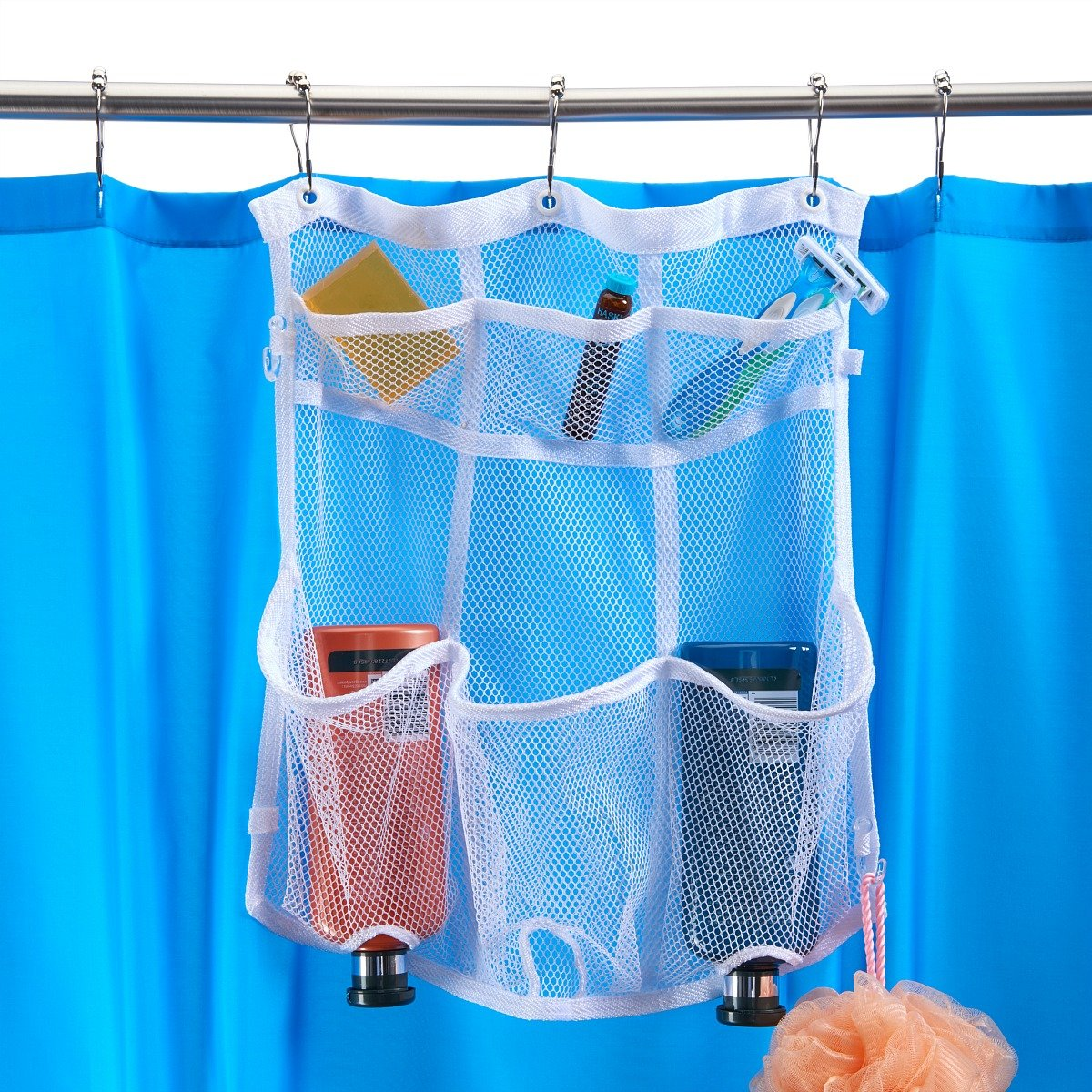 Amazon.com: Smooth Trip Hanging Shower Organizer for Curtain Rods ...