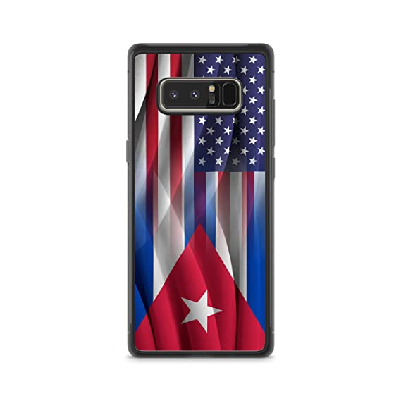 Cuban American Flag Hybrid Rubber Protective Case (Galaxy Note 8)