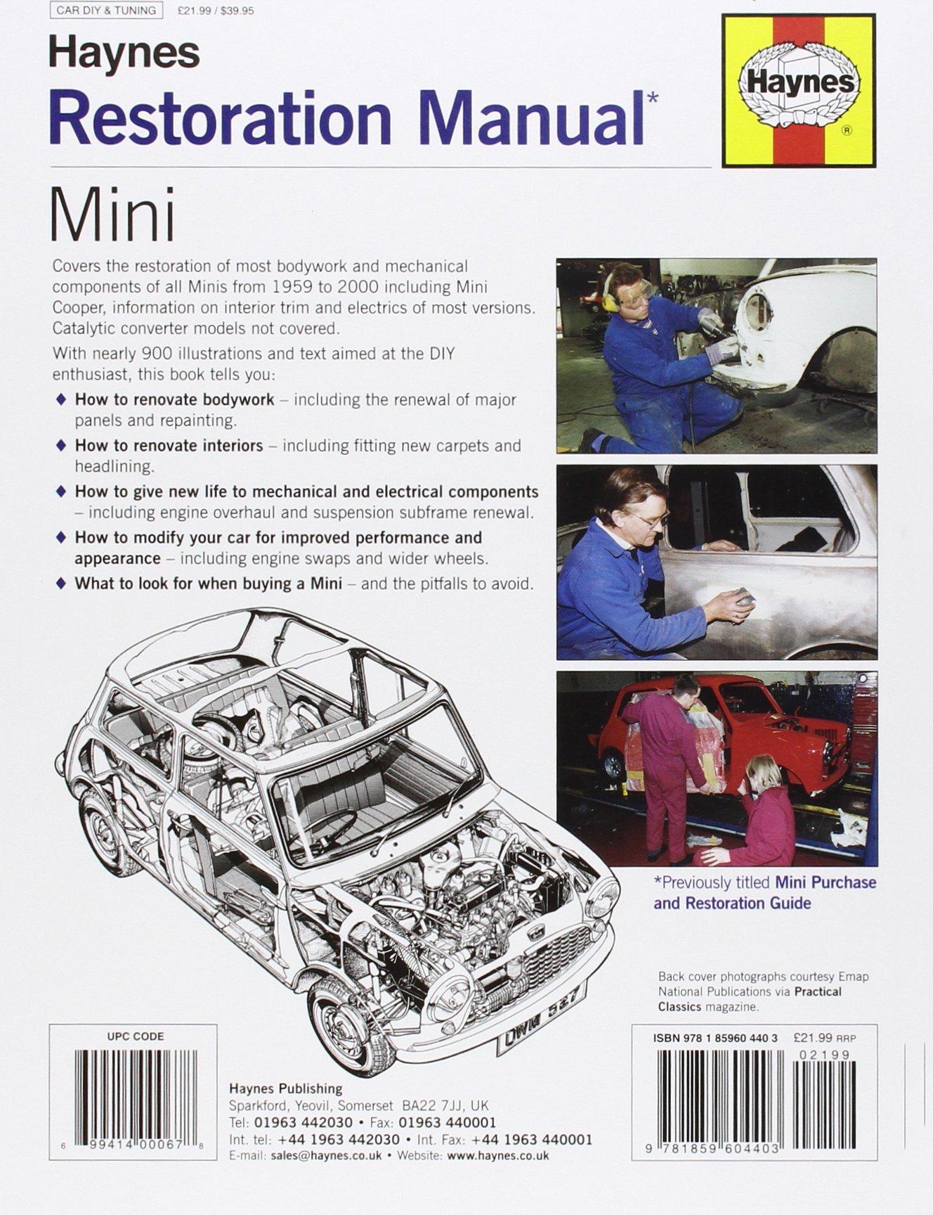 mini restoration manual lindsay porter 9781859604403 books rh amazon ca the ultimate mini restoration manual pdf haynes mini restoration manual pdf
