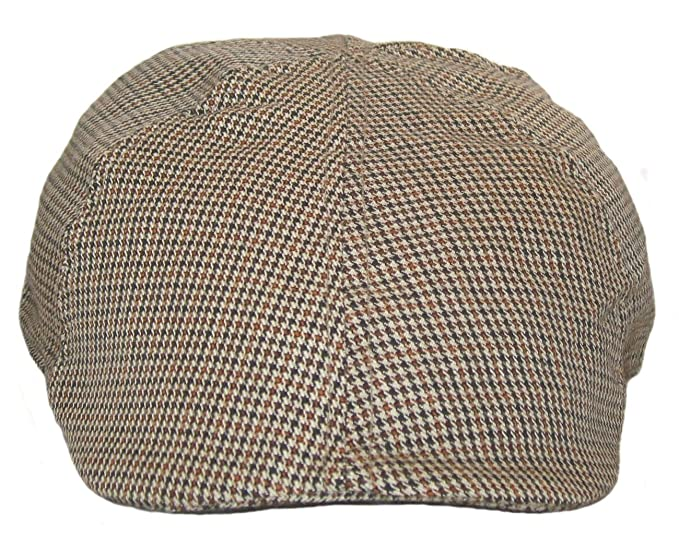 3e220492b52 Big Head Caps Men s Hat Houndstooth Deville Driving Ivy Flat Cap 8 to 8.5  Brown Houndstooth