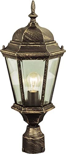Trans Globe Lighting 4260 BC Outdoor San Rafael 22 Postmount Lantern, Black Copper