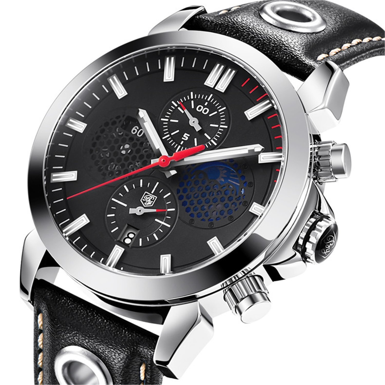 Amazon.com: Watch Men Sport Quartz Clock Mens Watches Top Brand Luxury Business Waterproof Watch Auto Date Leather 5124 (red): Watches
