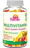 Multi-vitamin Gummies   Vegetarian Kosher Halal NO gluten or gelatin, no GMO  For Men, Women & Kids  3 Natural Flavors   Vitamins A, C, B3, B12, Biotin, Zinc & More  100 Gummies