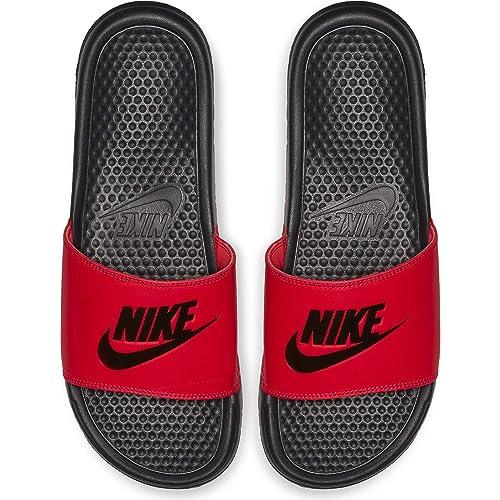 sale retailer ec534 c9757 Nike Men s Benassi Just Do It Sandal red Orbit Black - Anthracite 12  Regular US