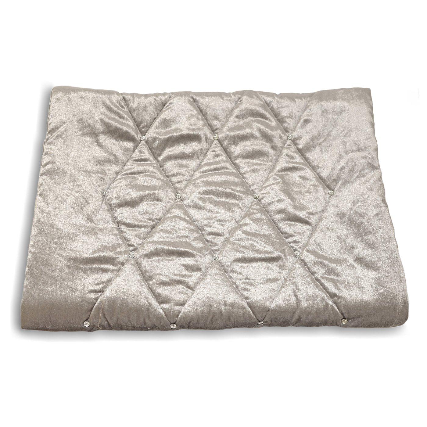 Riva Home - Cubre pies para la Cama Modelo Diamante (70x220cm/Crema): Amazon.es: Hogar