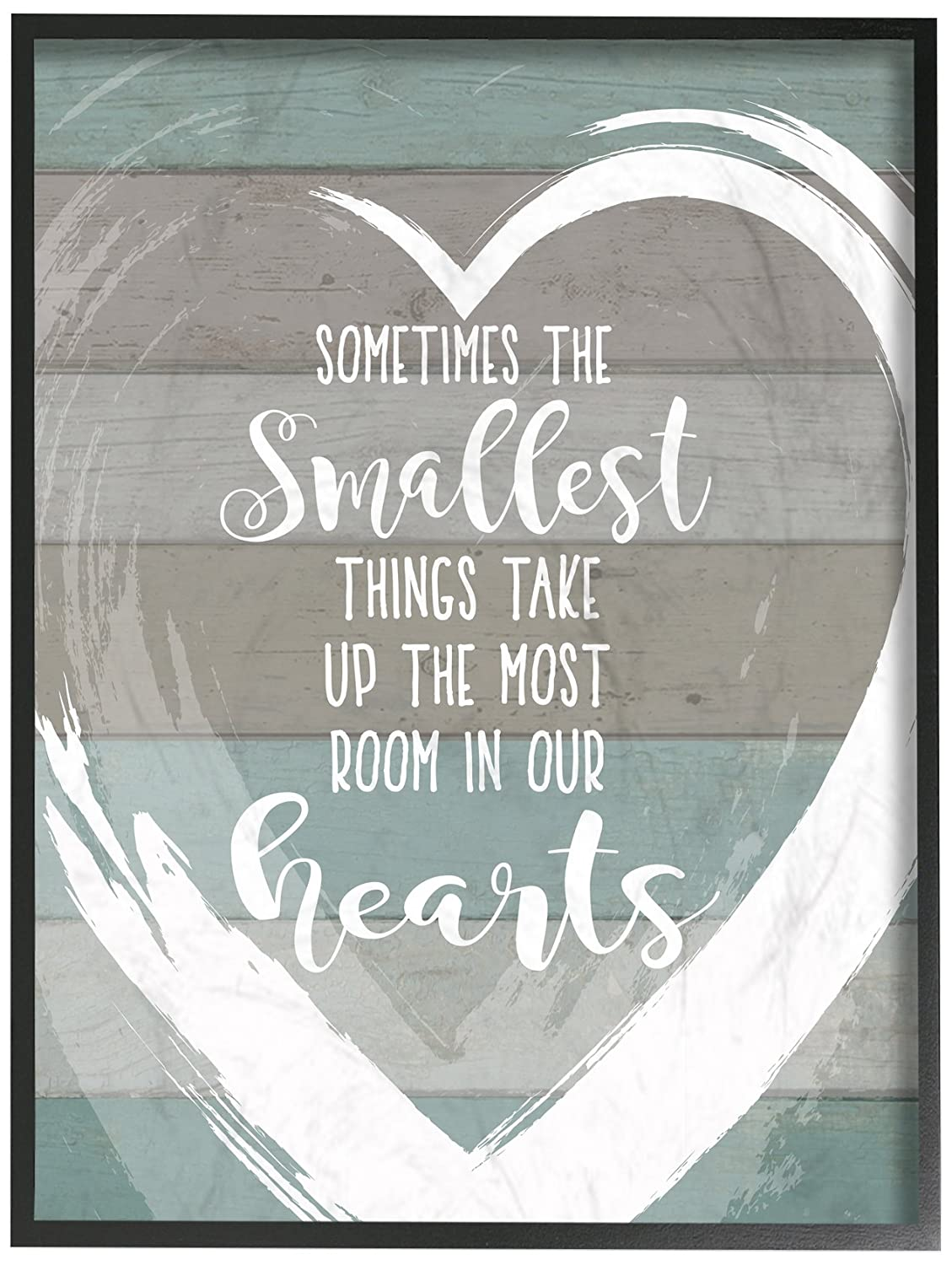 Multicolor The Stupell Home Decor Collection Smallest Things Most Room in Heart Planked Wall Plaque Art 10x15