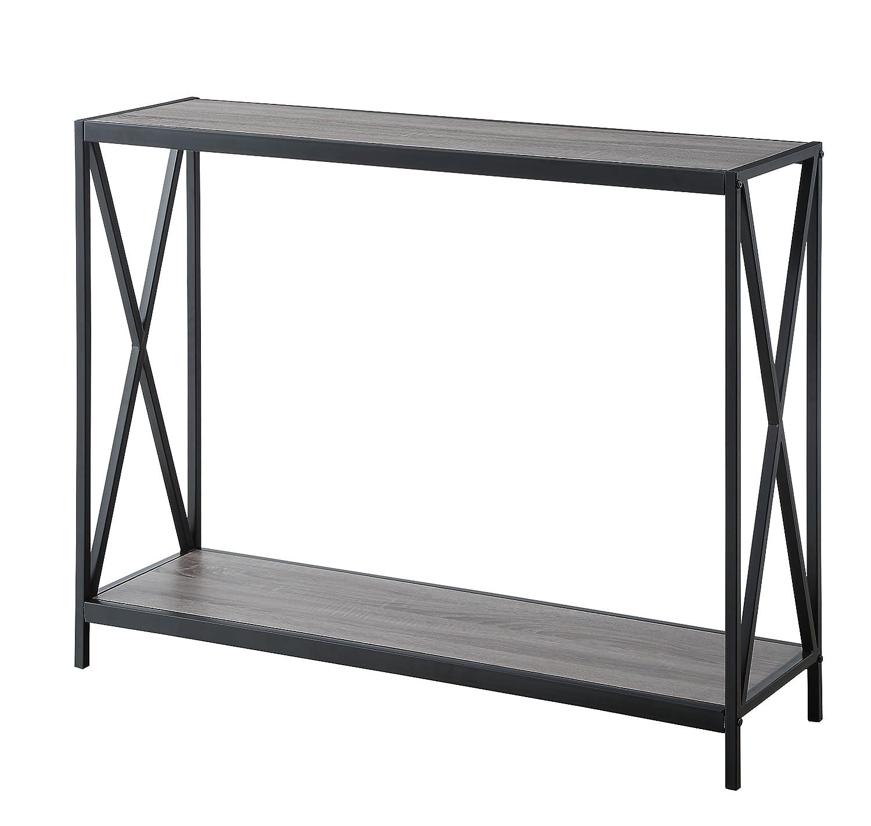 Amazon.com: Envejecido gris marco de metal de 2 pisos de ...
