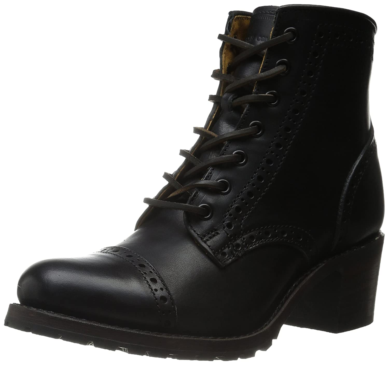 FRYE Women's Sabrina Brogue-VPU Combat Boot B00R54VF1W 8 B(M) US|Black