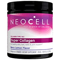 NeoCell Super Collagen Powder - Grass-Fed Collagen Types 1 & 3 - Paleo Friendly & Gluten Free, Berry Lemon Flavor - 6.74 Ounces (Package May Vary)
