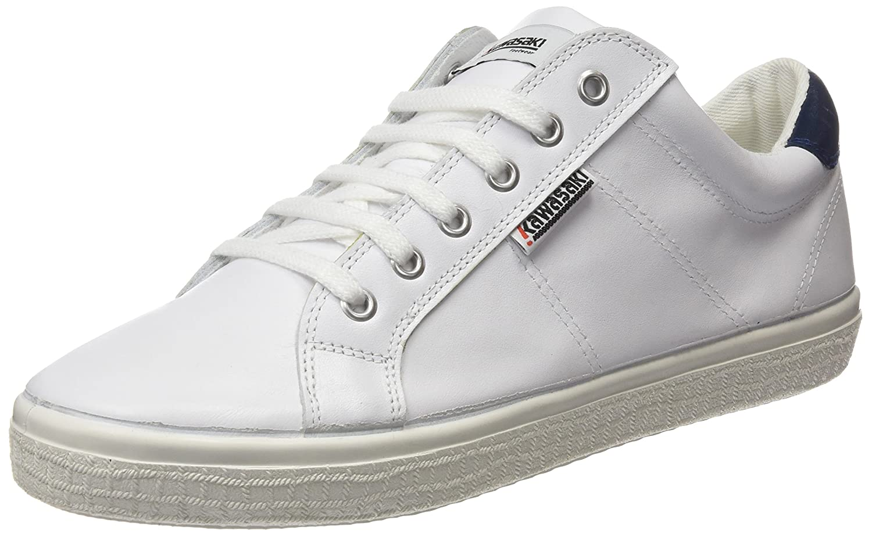 Kawasaki Badmin Leather, Zapatillas Unisex Adulto 39 EU|Blanco (White / Navy Hee)