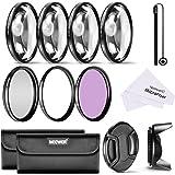 Neewer 55Mm Professionale Filtro E Kit Accessori Close-Up Per Sony Alpha Series A99 A77 A65 A58 A57 A55 A390 A100 Dslr Camere Con 18-55Mm Zoom Obiettivo - Inclusi: Kit Filtro (Uv, Cpl, Fld) + Kit Macro Close-Up (+1, +2, +4, +10) + Borsetta + Parasole A Forma Tulipano + Coperchio Lente Con Laccio + Stoffa Di Pulizia Di Microfibra