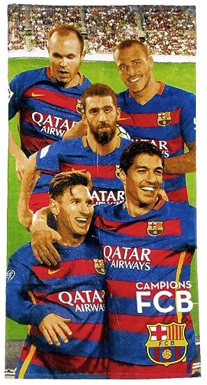 FC Barcelona Messi Toalla de playa/toalla, 70 x 140 cm, Original licencia oficial: Amazon.es: Hogar