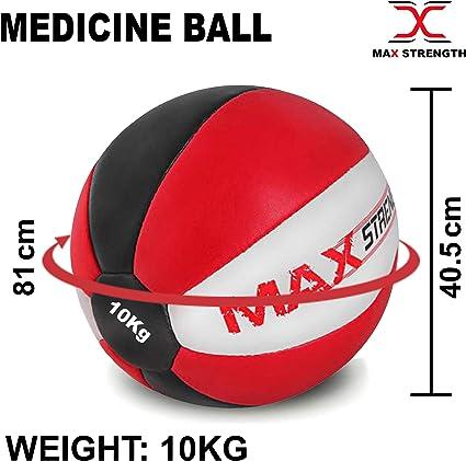 Max Strength - Balón Medicinal de Piel de Maya Resistente (8 kg ...