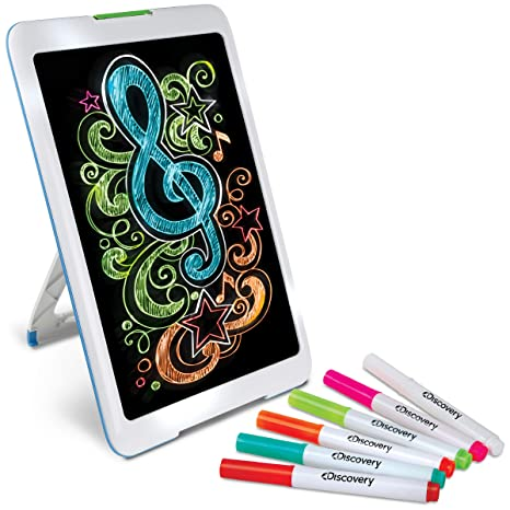 Amazon Com Discovery Kids Neon Glow Drawing Easel W Color Markers
