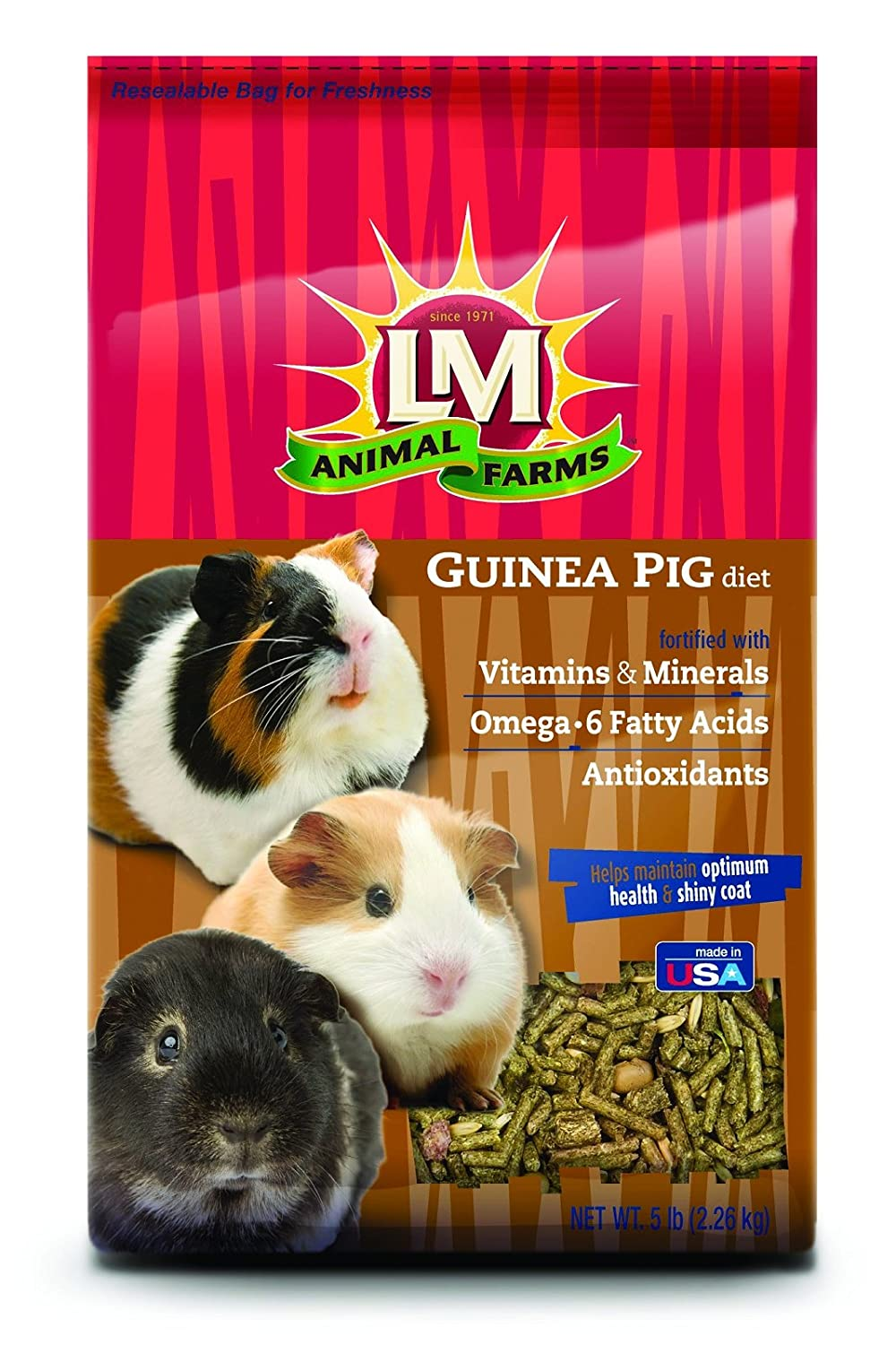 LM Animal Farms Guinea Pig Diet 5 lbs.