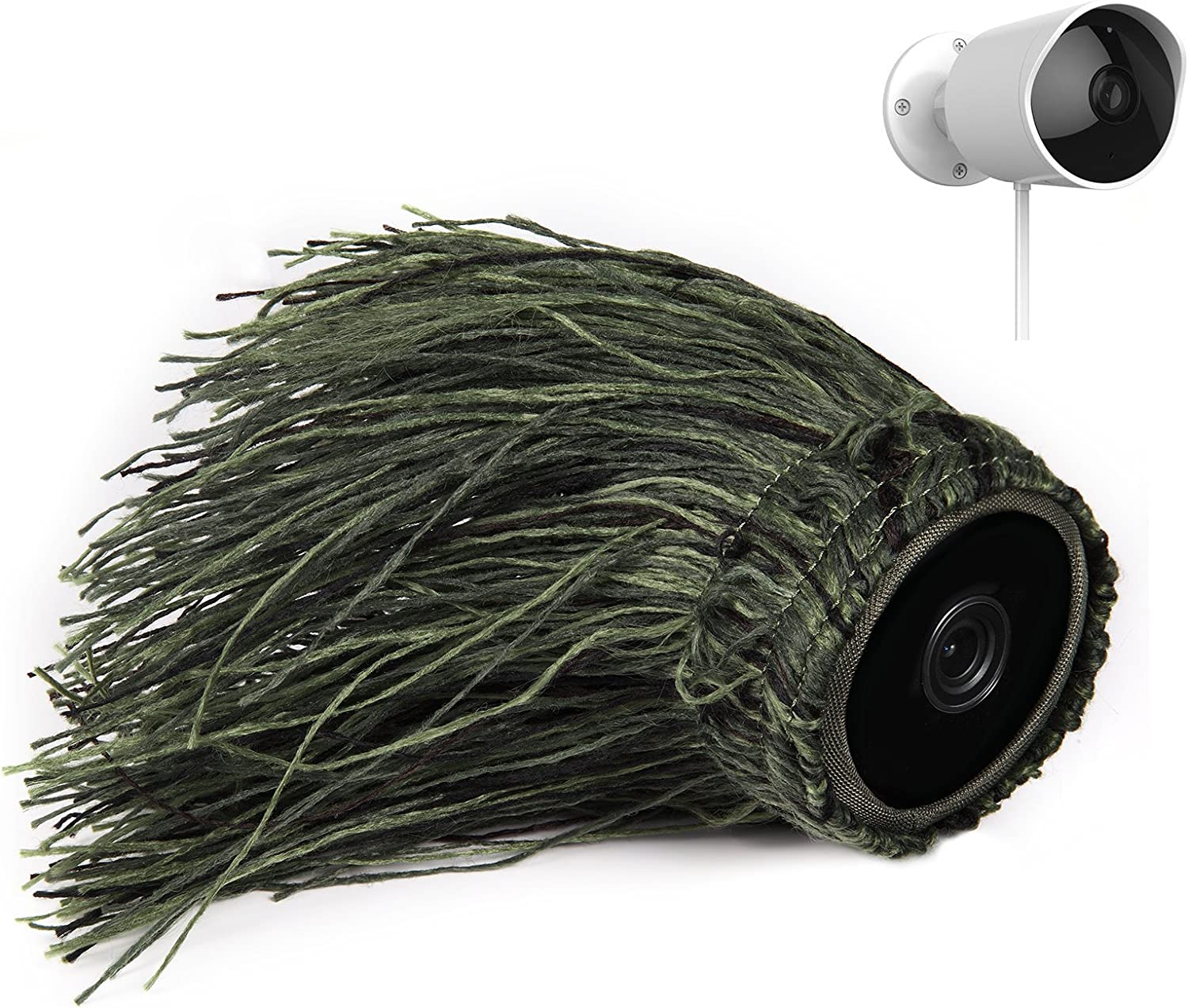 Ghillie Skin Compatible with YI Outdoor Security Camera— by Wasserstein (1 Pack)