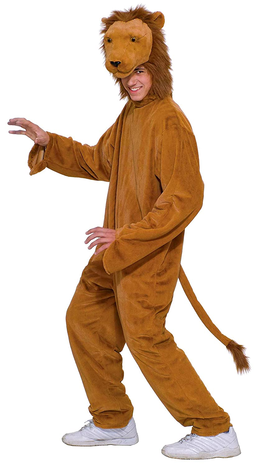 Great Amazon.com: Forum Novelties Menu0027s Deluxe Plush Lion Costume, Brown, One  Size: Clothing