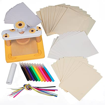 Amazon wood flower press kit no screws for easier crafting wood flower press kit no screws for easier crafting includes bookmark ribbons mightylinksfo
