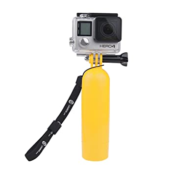 CamKix - Palo flotante / flotador para GoPro con trípode. Compatible con GoPro Hero 1, 2, 3, and 3+. Incluye pulsera ajustable. Color amarillo: Amazon.es: ...