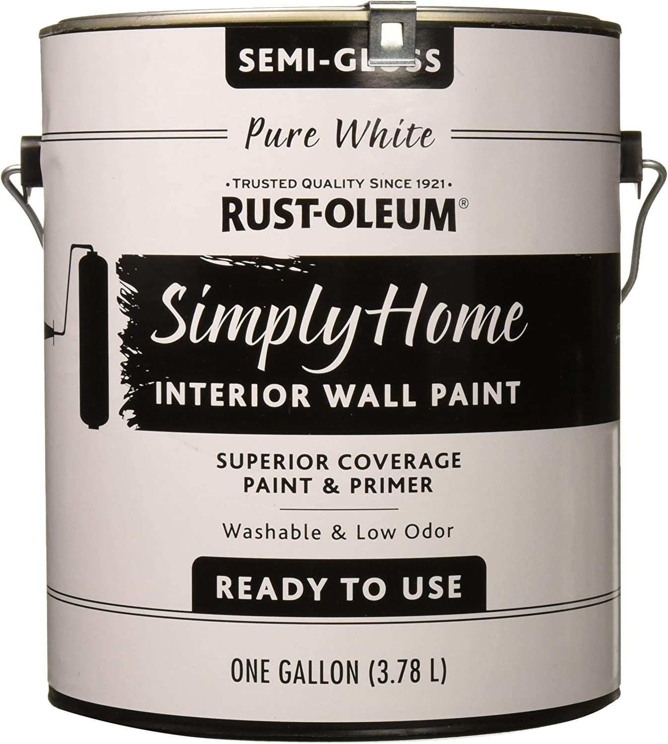 Rust-Oleum Simply Home Interior Wall Paint 332120 Simply Home Semigloss Interior Wall Paint, Pure White