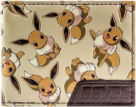 Cartera de Pokemon Eevee 133 Carácter múltiple marrón: Amazon.es: Equipaje