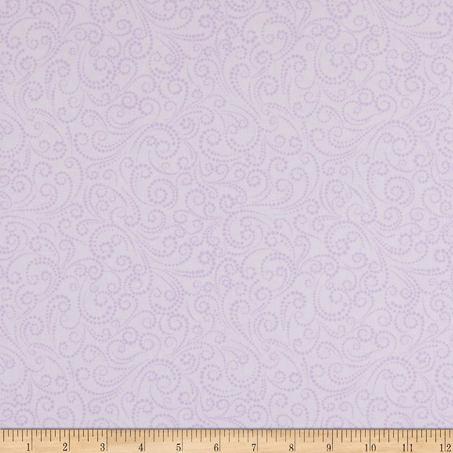 Benartex Classic Scrolls And Blenders Dotted Scroll Lilac Quilt Fabric By The Yard