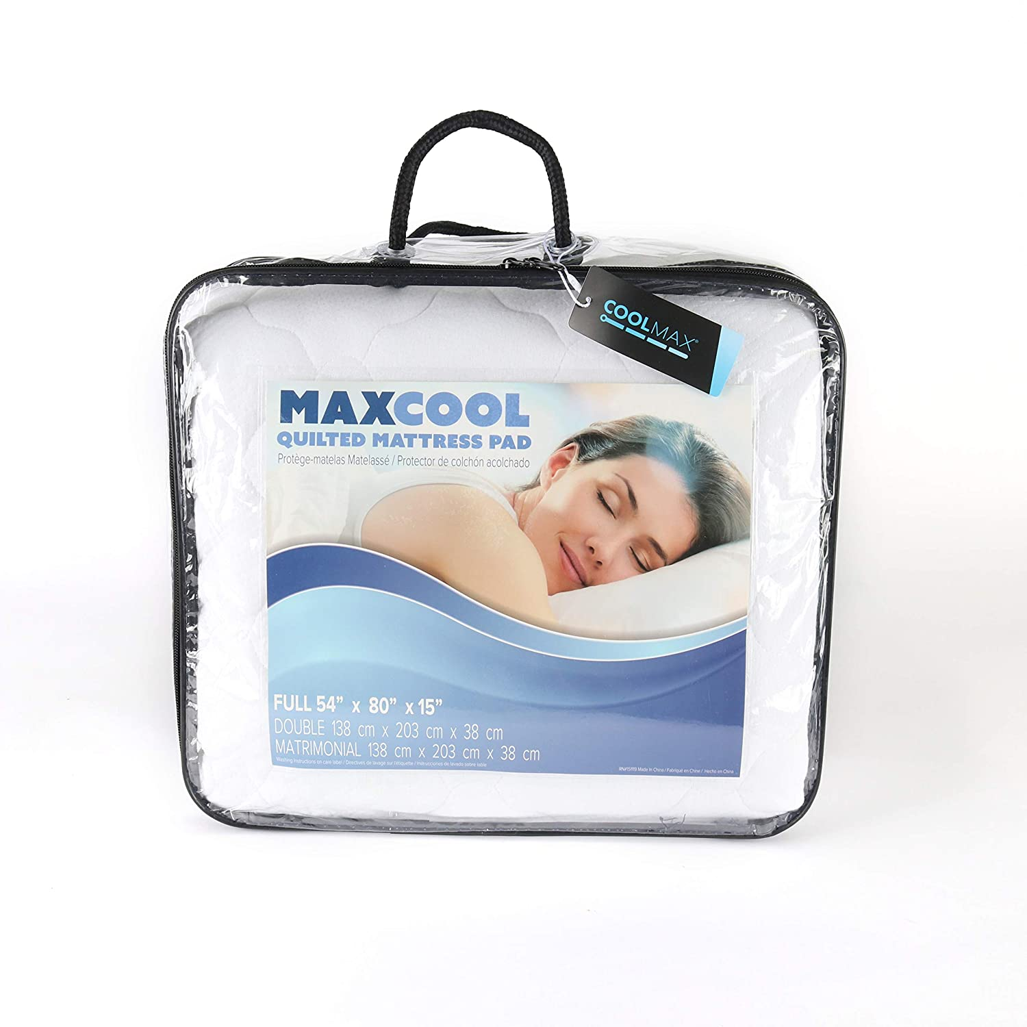 Amazon.com: Arkwright Quilted Mattress Pad   Coolmax Technology Fabric Keeps You Cool   Hypoallergenic, Breathable, Water Resistant, Noiseless   Soft and ...