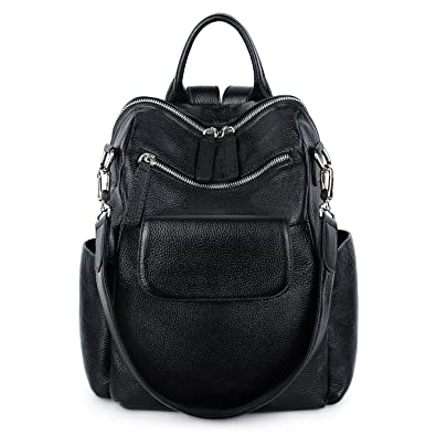 31e685f5b6 Amazon.com  YALUXE womens Leather Backpack Casual Fashion Style School Bag  for Girls Rucksack Backpack for women  Clothing