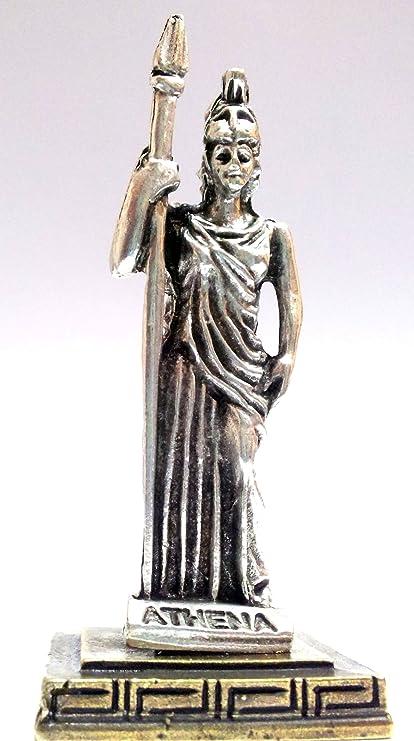 Ancient Greek Zamac Miniature Statue Of Athena Silver