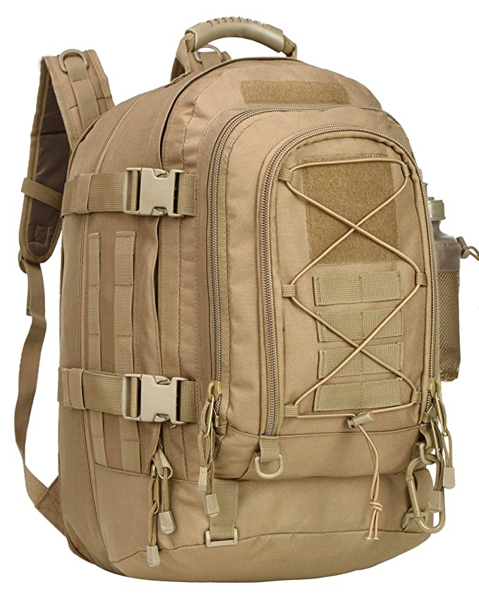 1cf30642b4b2 Military Tactical Backpack Expandable Waterproof Assault Pack Molle Bug Out  Bag for Hunting