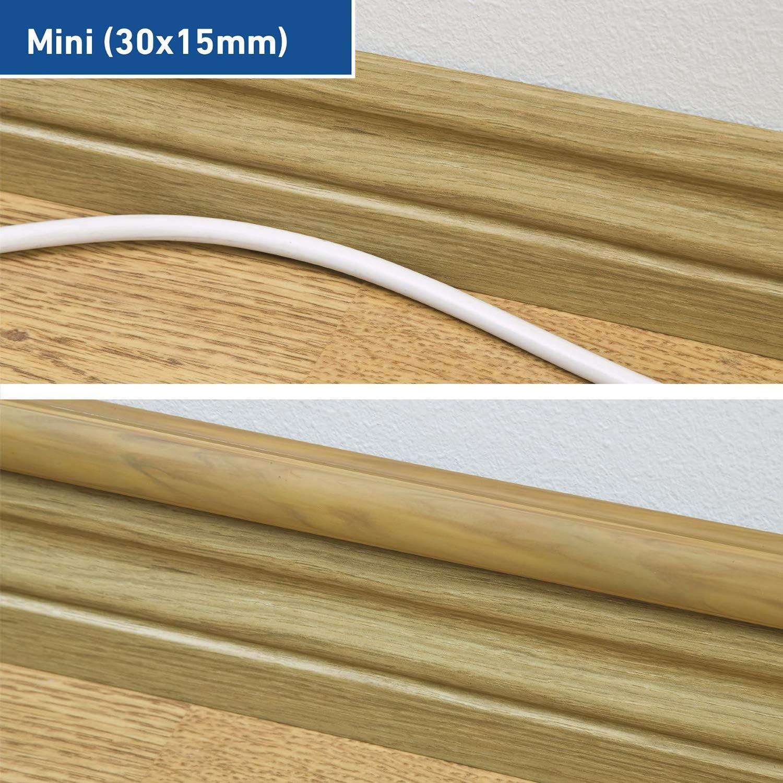 Rosso H D-Line Mini Canalina Passacavi da 2 Metri 30 mm Canalina per Cavi Autoadesiva x 15 mm 2 x 1 Metri di Lunghezza Soluzione Ideale per la Gestione di Cavi e Fili Elettrici L