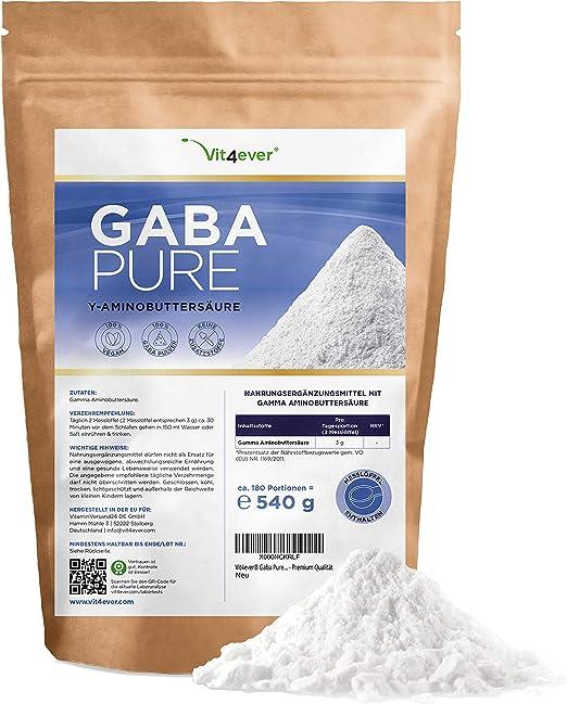 2 x 500 g GABA Pulver Gamma AminobuttersäureSchlafreines Pulver 1 kg