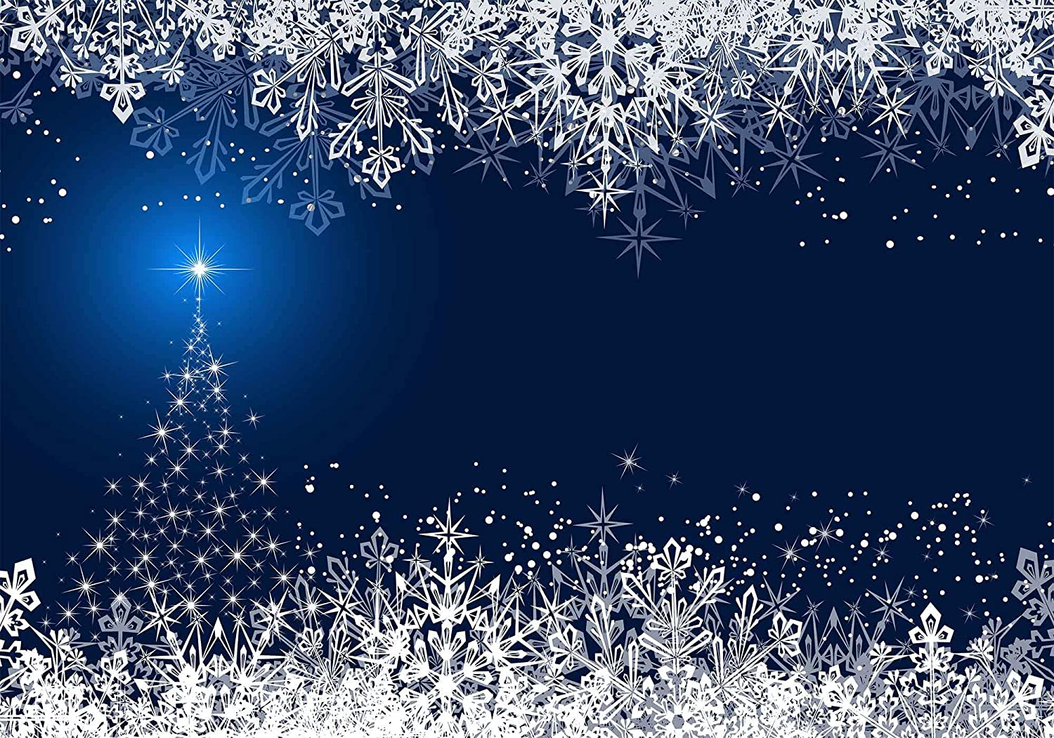 Christmas Backdrop Winter Landscape Snowflake Building Photography Background MEETSIOY 10x7ft Themed Party Photo Booth YouTube Backdrop LFMT453