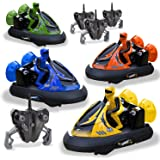 Rc Bumper Cars - Remote Control Cars - Set of 4 - with Rechargeable Batteries and Wall Charger | 2.4Ghz Multiplayer Technology - Easy and Fun To Play