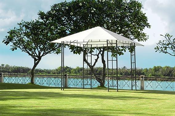 JYSK – Cenador de jardín Faaborg W300 x L300, Color Blanco: Amazon ...
