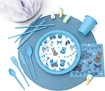 Pack para Fiesta Infantil o cumpleaños con diseño de bebé - Color ...