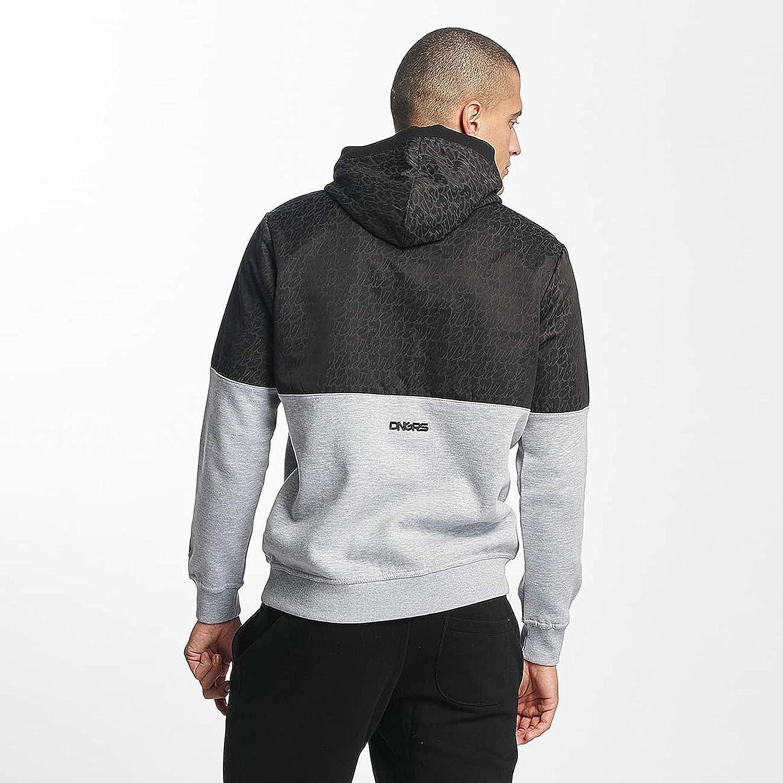Dangerous Herren Kapuzenpullover Corus Hoodie in zweifarbigem Stil Grau