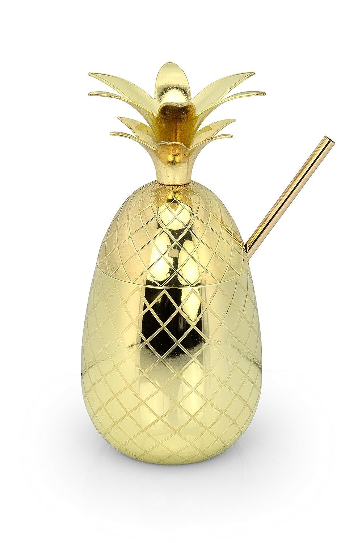 Vaso Acero Inoxidable Moscow Mule Regalo con Recetas S de portatil /Pineapple Gorilla/ Moody Monkey C/óctel Pi/ña Taza Oro/ /Hechas a Mano /1/x Pajita 1/x Gratis Cepillo de Limpieza/