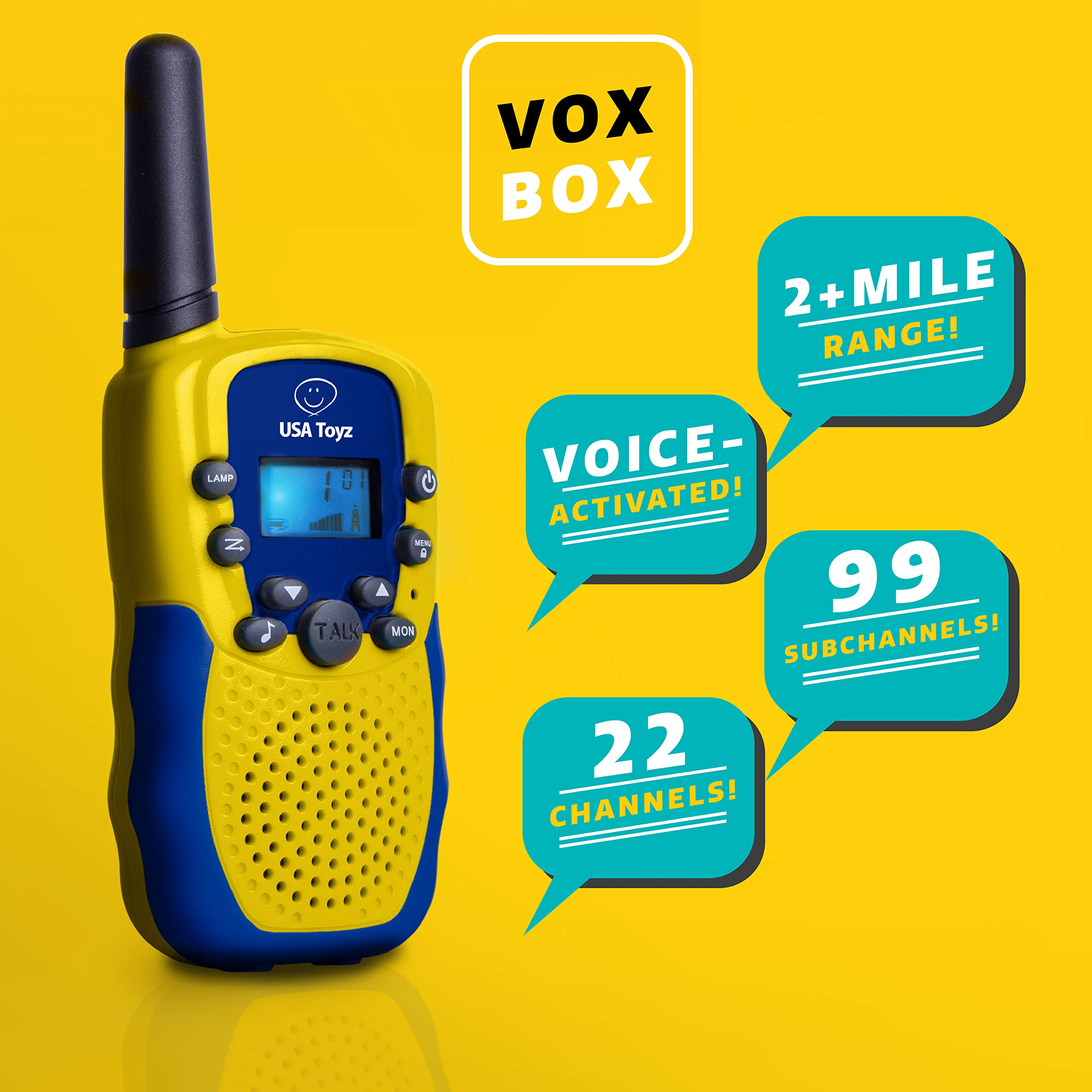 USA Toyz Walkie Talkies with Binoculars for Kids - Vox Box Voice Activated Walkie Talkies for Boys or Girls, Long Range Walkie Talkie Toys Set by USA Toyz (Image #2)