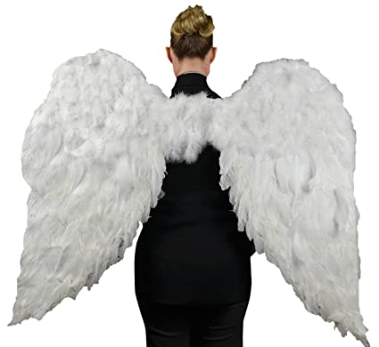 b062d87f4e7 Touch of Nature 11009 Adult Angel Wing in White with Elastic Straps, 52 by  36-Inch
