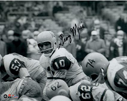 George Mira Miami Hurricanes Autographed 8
