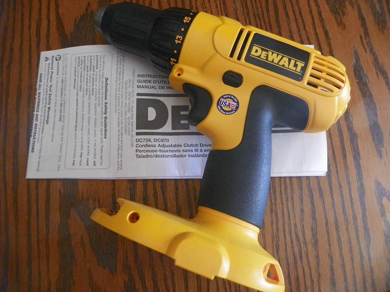 Dewalt DC759 embrague ajustable Taladro Atornillador inalámbrico 18 V 1/2