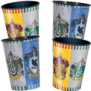 4 Estable de Vasos de plástico * Harry Potter * para Fiesta ...