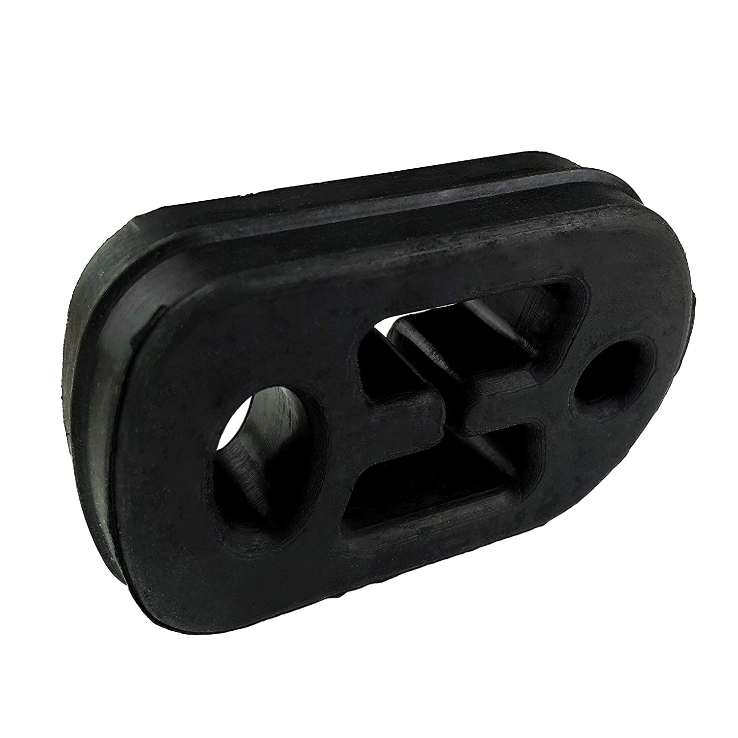 Pack of 2 Exhaust Hanger Pipe Rubber Insulator Mount Bracket Bushing Car Vehicle Universal Black 12mm ID 2 Holes