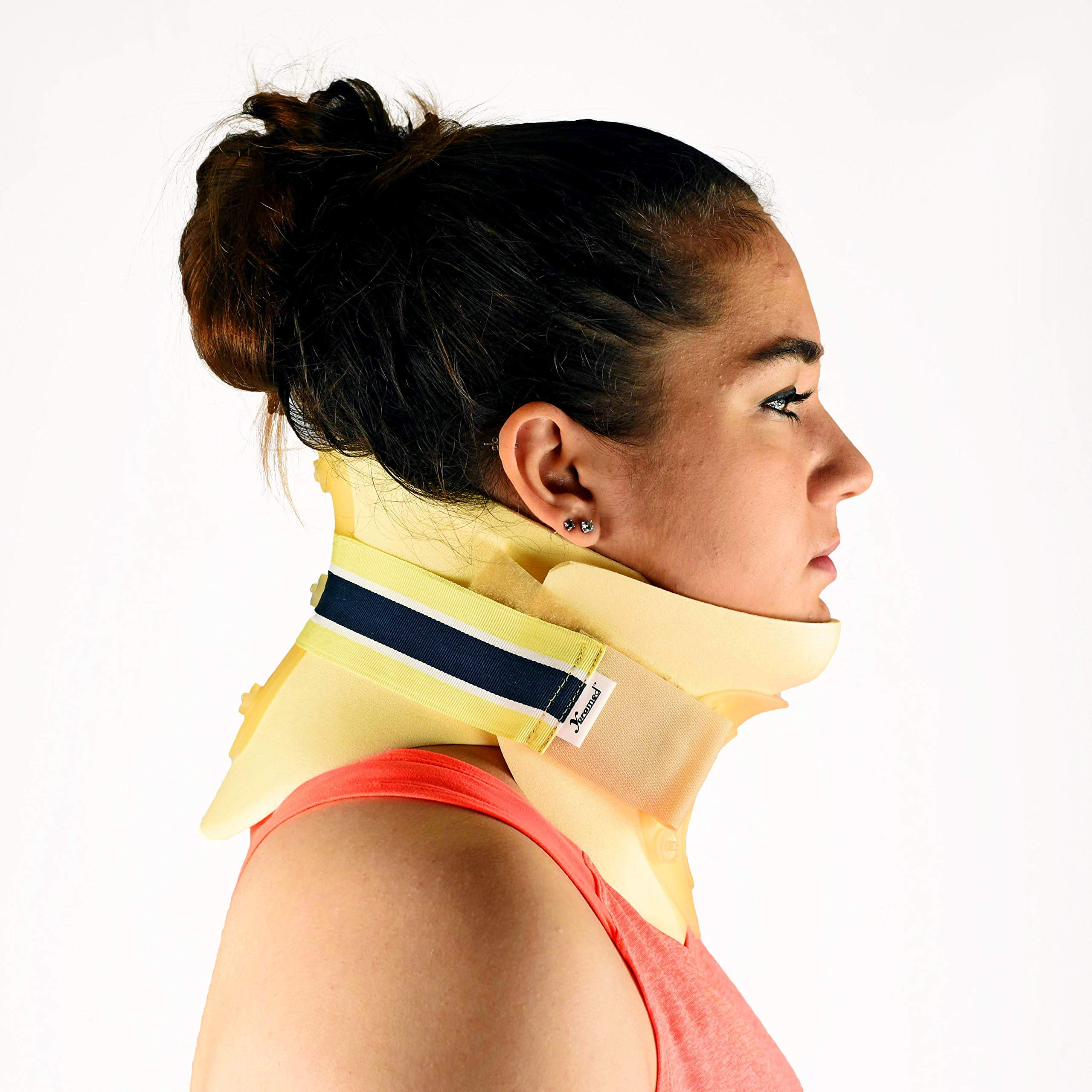 Dr. Franklyn's Cervical Collar Stiff Neck Pain Brace - Universal Waterproof Immobilizer Spine Pain & Pressure Relief - One Size Fits All by Dr. Franklyn's